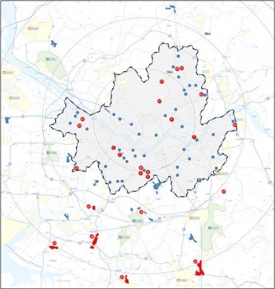 수도권 주택 30만가구 공급 제3차 신규택지 추진 계획의 중소규모 택지지구 위치도/제공= 국토교통부