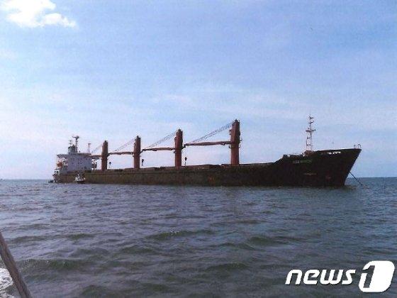 미국 정부가 북한산 석탄을 불법 선적해 유엔 대북 제재를 위반했다는 혐의를 받고 있는 북한 화물선 '와이즈 어니스트'호를 억류했다. © AFP=뉴스1