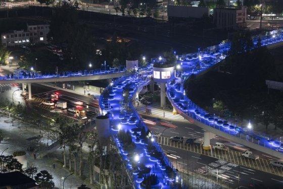 서울역 7017의 야간 풍경/사진제공=서울시