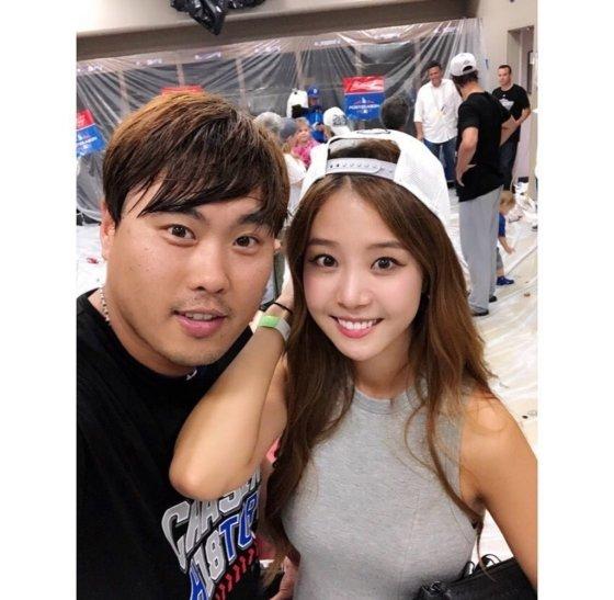 류현진-배지현 부부/사진=배지현 인스타그램