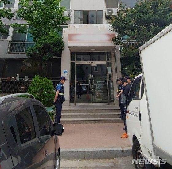 20일 일가족 3명이 숨진 채 발견된 경기 의정부시 아파트/사진=뉴시스