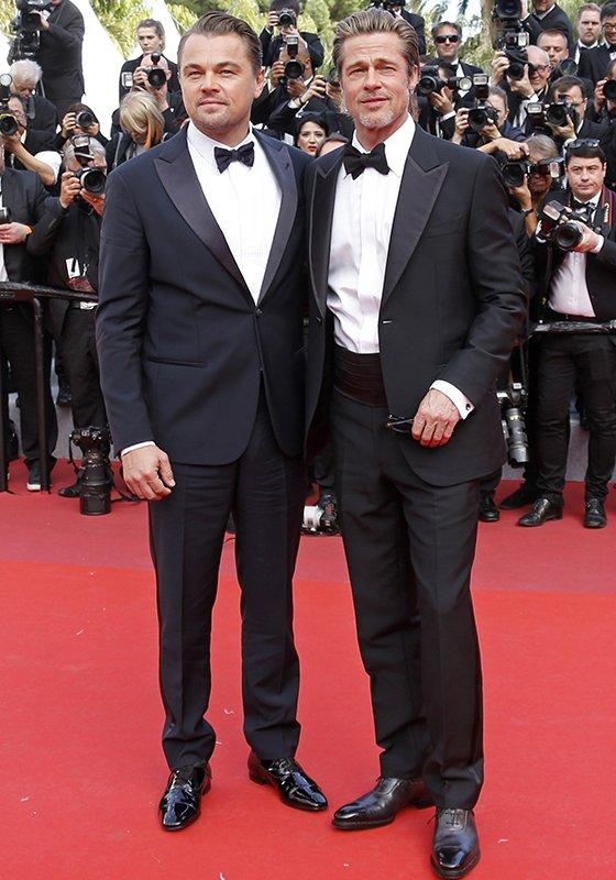 배우 레오나르도 디카프리오, 브래드 피트/사진=Reuters