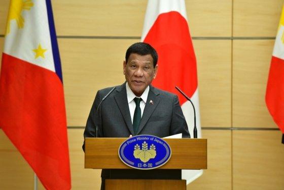 일본을 방문한 로드리고 두테르테 필리핀 대통령. /사진=AFP