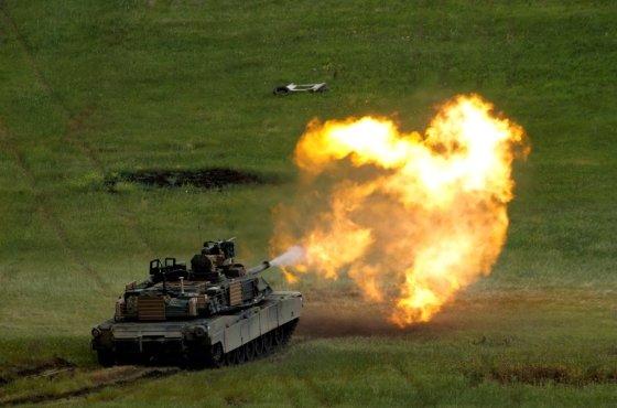 미국 제너럴 다이내믹스(GD)의 M1A2 에이브람스 탱크. /사진=로이터