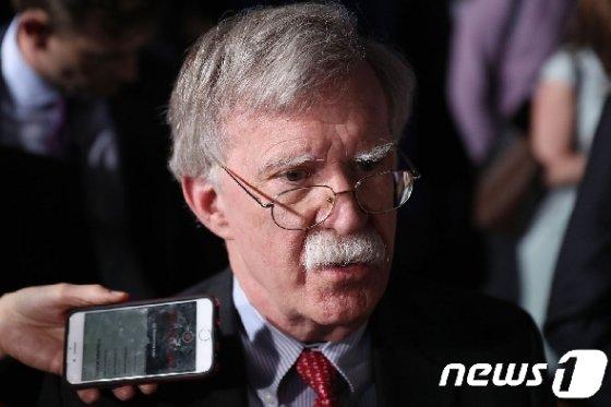 존 볼턴 백악관국가안보보좌관.  © AFP=뉴스1