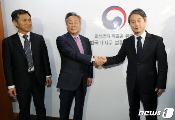 김숙 전 유엔 대사(가운데) © News1 안은나 기자