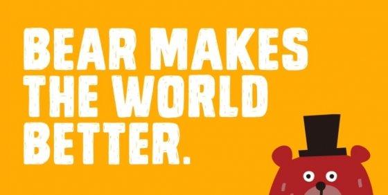 곰 청년들이 더 나은 세상을 만든다는 의미의, 베어베터 로고./사진=베어베터 홈페이지 화면