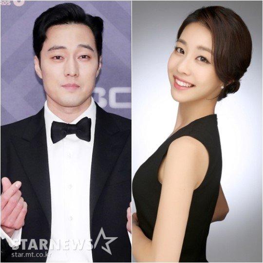 배우 소지섭과 조은정 아니운서/사진=스타뉴스