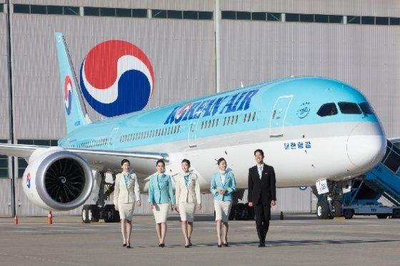 대한항공이 운영 중인 보잉 787-9(대한항공 제공)© News1