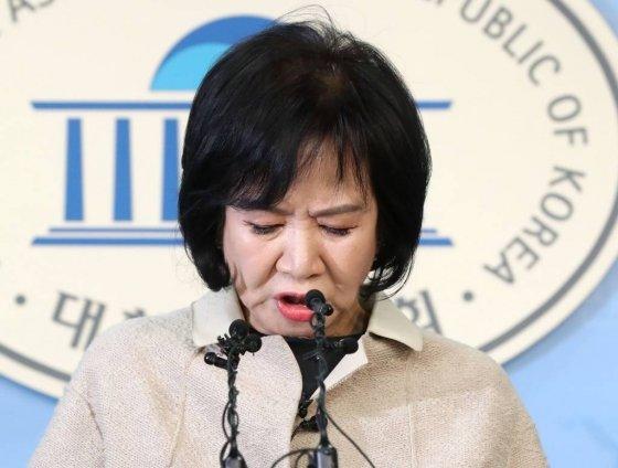 목포 부동산 투기의혹을 받고있는 손혜원 의원이 지난 1월20일 오전 서울 여의도 국회에서 기자회견을 갖고 있다./사진=홍봉진 기자