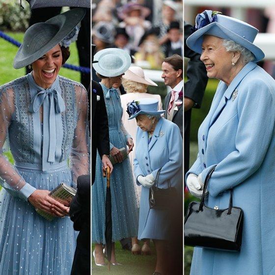 영국 케이트 미들턴 왕세손비와 엘리자베스 2세 여왕 /사진=/AFPNews=뉴스1