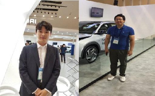 박형민 효성첨단소재 영업팀 사원(왼쪽)과 홍용택 이노션 대리./사진=머니투데이 DB