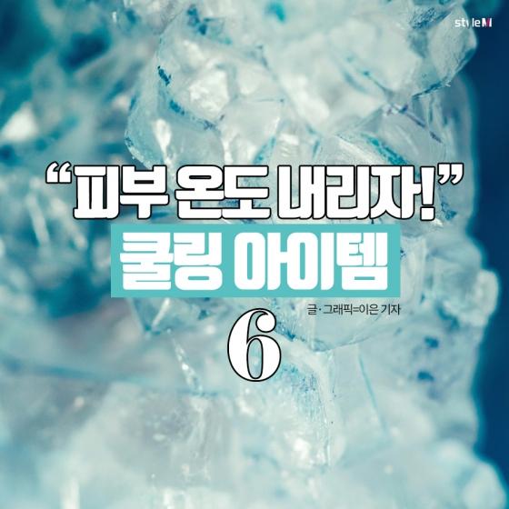 """[카드뉴스] """"피부 온도 내리자!""""…'쿨링 아이템' 6"""