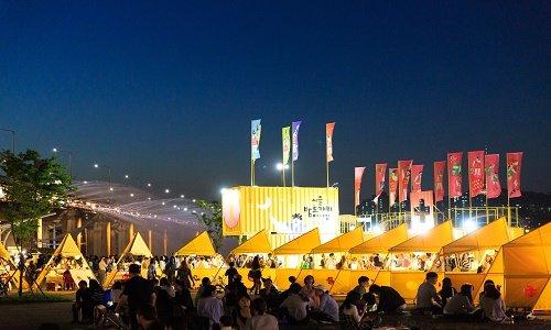 서울 서초구 반포 한강공원에서 열린 '밤도깨비 야시장'. /사진=서울시 한강사업본부