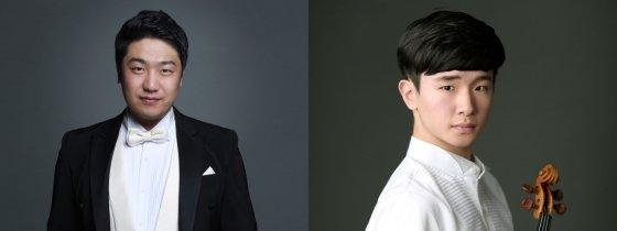바리톤 김기훈(2위, 왼쪽)과 바이올린 김동현(3위). /사진제공=크레디아