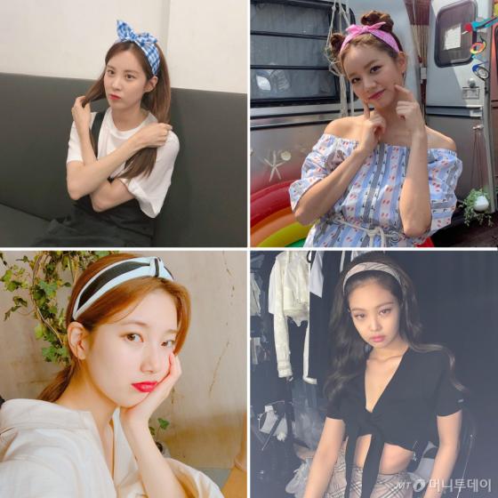 /사진=소녀시대 서현, 혜리, 수지, 블랙핑크 제니 인스타그램