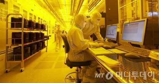 삼성전자 반도체 생산라인. /사진제공=삼성전자