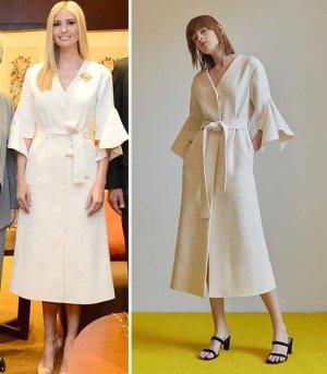 이방카 방한 원피스 '한국 디자이너' 옷이었다