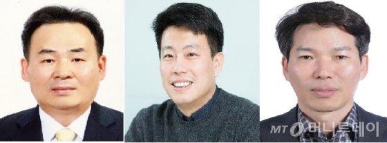왼쪽부터 김광현 창업진흥원장, 임정욱 스타트업얼라이언스센터장, 권대수 중소벤처기업부 창업진흥정책관.