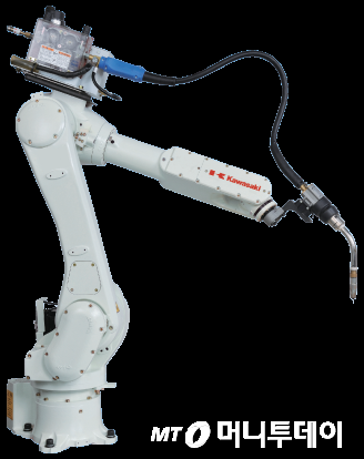 용접 용도로 쓰이는 가와사키의 '로봇 팔'/사진=가와사키 홈페이지