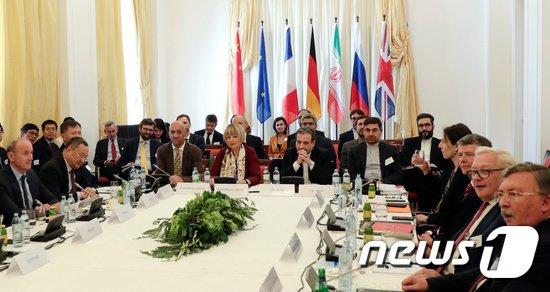 이란 핵합의(포괄적공동행동계획: JCPOA)를 지키기 위한 회담. © 로이터=뉴스1