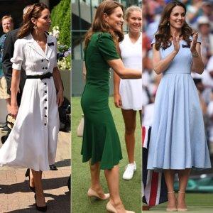 '2019 윔블던' 참석한 케이트 미들턴, 3일간의 패션 보니…