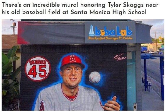 스캑스 추모 벽화./사진=MLB.com CUT4