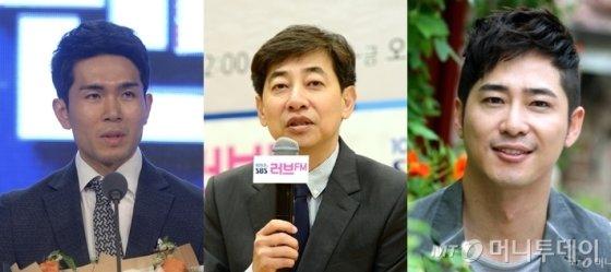 왼쪽부터 프로농구 선수 정병국(35), 김성준 전 SBS 앵커(55), 배우 강지환(42)/사진=뉴시스, SBS제공, 홍봉진기자