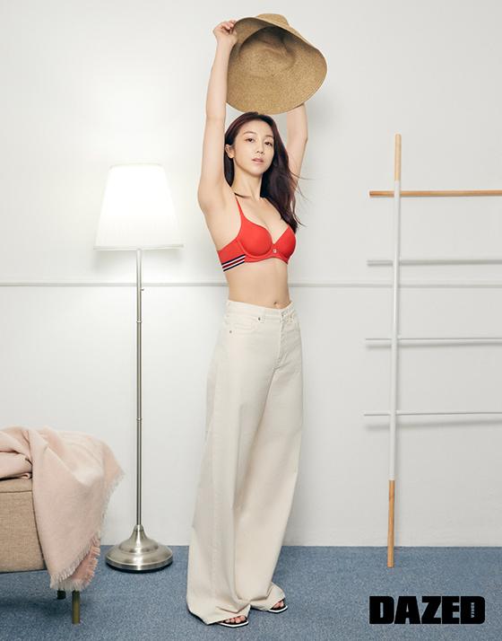 배우 김옥빈/사진제공=휠라, 데이즈드
