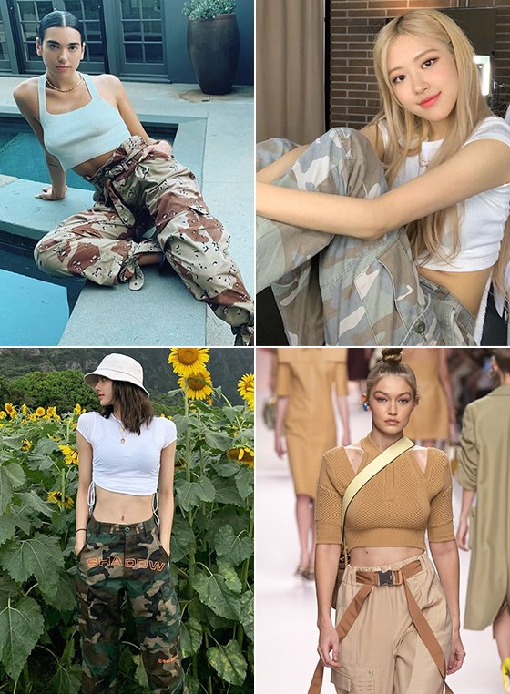 가수 두아리파, 블랙핑크 로제, 모델 지지 하디드, 블랙핑크 리사/사진=각 인스타그램, Fendi