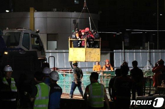 [사진] 목동 수몰사고 현장 '실종자를 찾아라'