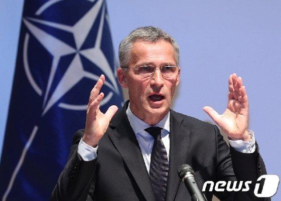 옌스 스톨텐베르그 나토(NATO·북대서양조약기구) 사무총장. 2017.11.2/뉴스1 © News1 신웅수 기자