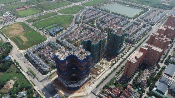 대우건설이 베트남 하노이에 조성하는 한국형 신도시 '스타레이크 시티' 모습/사진= 대우건설
