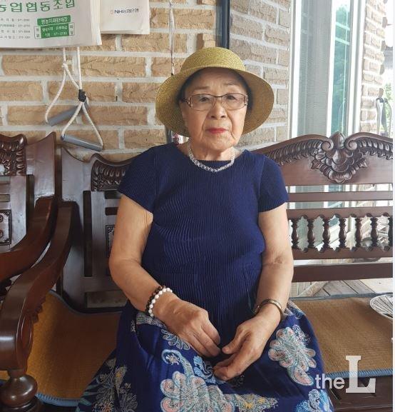 황완열(88) 할머니. 전북 정읍 거주. 일제 후지코시 강제징용 피해자/사진= 유동주 기자