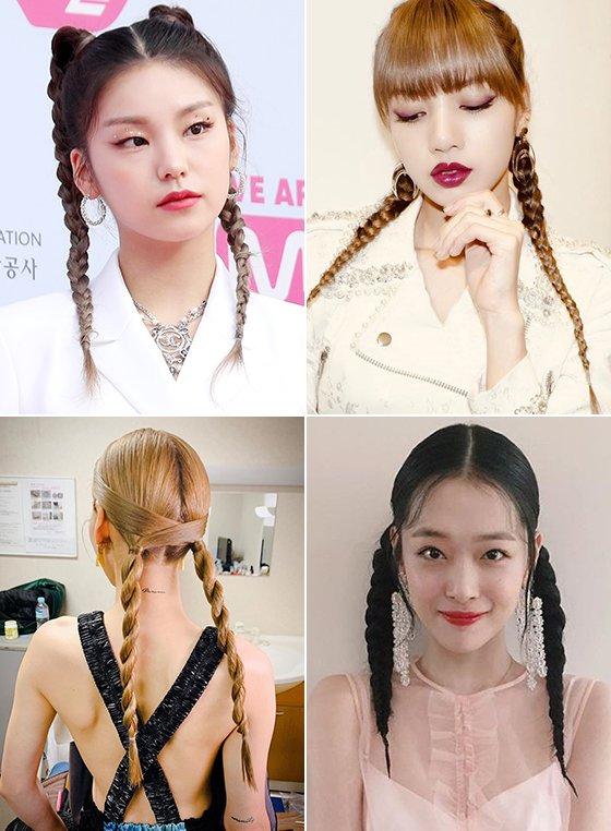 땀흘려도 '예쁨 유지'...★들의 '브레이드 헤어' 스타일