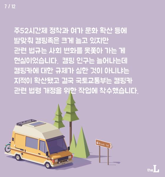 [카드뉴스]내년부터 내차 캠핑카 변신은 무죄?