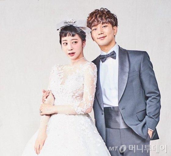 다음달 결혼을 앞둔 배우 최예슬(왼쪽)과 그룹 엠블랙 출신 지오. /사진=최예슬 인스타그램 캡처