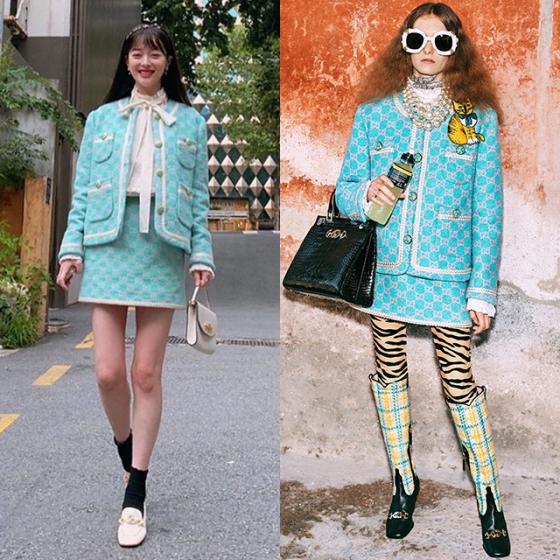 /사진=설리 인스타그램, 구찌 2019 Pre-fall 컬렉션