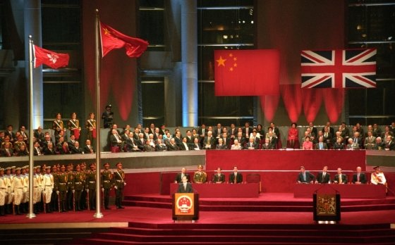 1997년 7월 1일 홍콩 반환식에서 연설하는 장쩌민 당시 중국 국가주석. /사진=AFP통신
