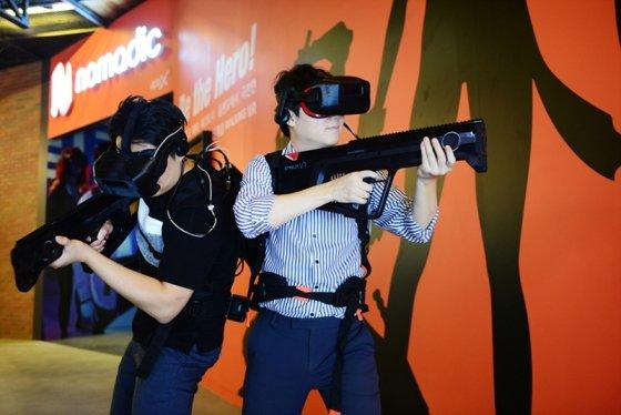 CGV강변 신개념 체감 VR '노마딕' 시범 사진  /사진제공=CJ CGV