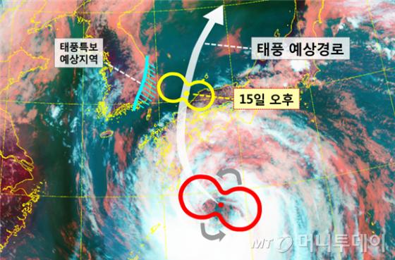 제 10호태풍 크로사 예상반경 /사진제공=기상청
