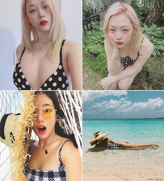 가수 겸 배우 설리, 배우 기은세/사진=각 스타 인스타그램