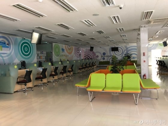 16일 오전 평일임에도 삼성전자서비스 해운대센터에 불이 꺼져 있다/사진=이정혁 기자
