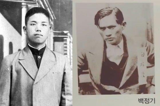 조명하 의사(좌측)·백정기 의사의 생전 모습./사진=조명하의사 기념사업회·전주방송 유튜브 캡처