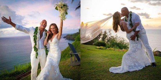 드웨인 존슨·로렌 하시안 결혼/사진=드웨인 존슨 SNS