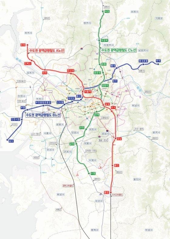GTX 노선도/사진= 국토교통부