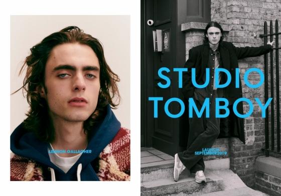 스튜디오톰보이가 올 가을 브랜드 역사상 처음으로 남성복을 출시한다. 사진은 모델 레논 갤러거 화보컷./사진제공=신세계톰보이