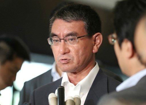 고노 다로 일본 외무상/사진=AFP