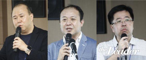 ▲ (왼쪽부터) 이정헌 경희대학교 교수, 최영환 충북대학교 교수, 장태형 서울미디어대학원대학교 교수