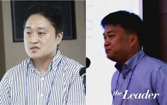 ▲(왼쪽부터)박진오 한국건설생활환경시험연구원(KCL) 선임과 오창순 선임이 공인 시험 수행 방안 및 기관 소개를 하고 있다.